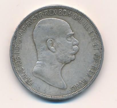 5 koruna FJ I. 1909 malá hlava