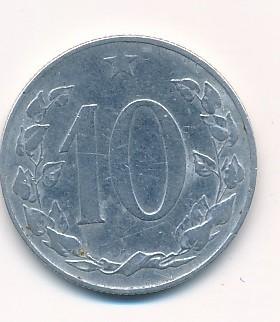 Československý 10 haléř 1955