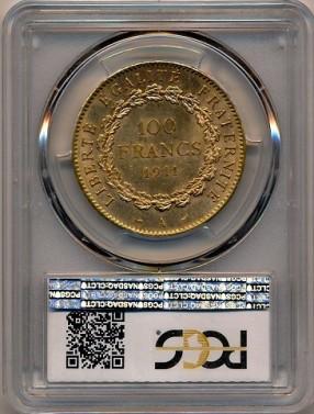 100 frank Anděl 1911 - ms 62 č.2