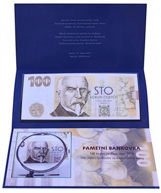 Bankovka 100 Kč 2019 Rašín č.1