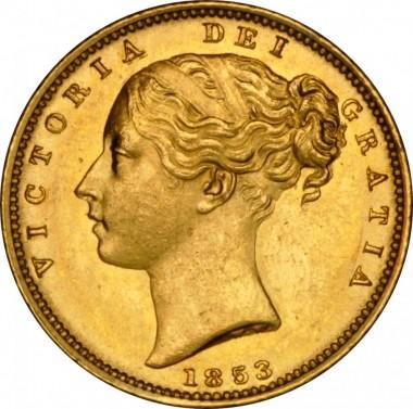 Sovereign královna Viktorie 1853