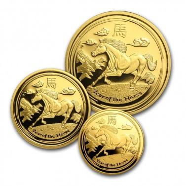 Set zlatých mincí Rok koně 2014