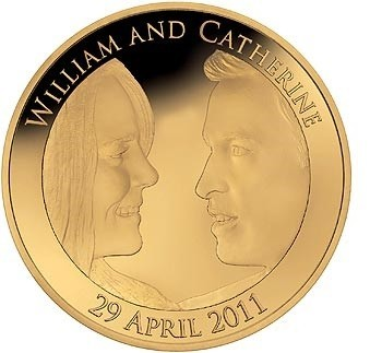 Zlatá mince Královská svatba 2011